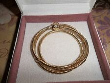 Genuine Authentic Pandora 14ct Gold Barrel Clasp Necklace 550703 50cm  RRP £2900