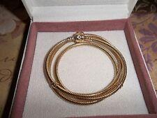 Genuine Authentic Pandora 14ct Gold Barrel Clasp Necklace 550703 50cm  RRP £2900