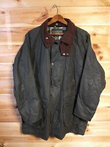 Men's Samuel Windsor Green Wax Field Jacket Coat Medium Made in England
