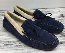 Cole Haan Women's Blue Suede Slipper Moc Leather Flats Shoes Sz 8 B MSRP $100.00