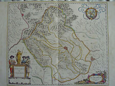 MAPPA TERRITORIO DI VICENZA 1640 THIENE MONTEBELLO SCHIO VENETO ORGIANO BRENDOLA