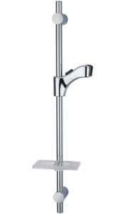 GENUINE DELTA S285-CH CHROME WALL BAR ADJUSTABLE SHOWER HOLDER W SOAP DISH