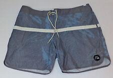 NWT Quiksilver Blue & Gray Hawaiian Print Tie Board Shorts   Size 38    L598