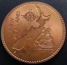 New Zealand 1887 Pure Copper Retro Pattern Prf. Crown