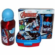 set porta merenda + borraccia alluminio Avengers MV15200 scuola asilo pranzo