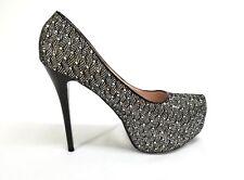 5c65ec40f De Blossom Collection Citi-5 Sparkle Stiletto Heel Pump Black Women s Size  ...