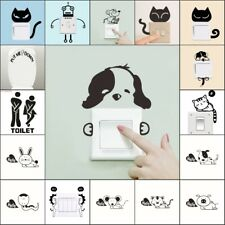DIY Cat Dog Wall Decal Vinyl Art Sticker Home Room Light Switch Mural Stickers