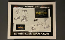 Collectors Autographs of G2 CSGO Team at the DreamHack Masters at Marseille.