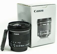Canon EF-S 10-18mm F/4.5-5.6 IS STM Wide angle Lens - Boxed
