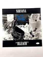 CHAD CHANNING w/ Kurt Cobain Autograph Nirvana 12x12 Photo JSA Bleach Signed Z2