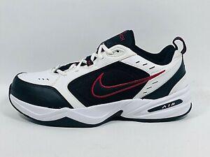 Nike Men's Air Monarch IV White Black 3E Training Shoes 416355-101 Size 11.5