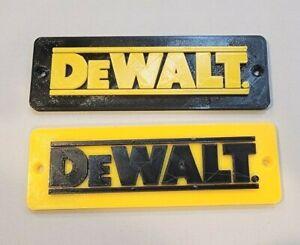 Dewalt Logo badge for boxes cabinets screw-on or magnetic