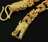 Sale! * USA * DELUXE GOLD DRAGON CHAIN BRACELET 10K Solid Yellow Gold Filled