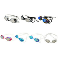 Plating Swimming Goggles Anti-fog UV Adjustable Competition Swim Glasses
