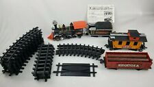 RARE 1985 New Bright Railroading Timberwolf & Redwood Sequoia w/ 18 Piece Track