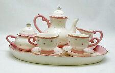 CHILDREN'S TEA SET -  PINK POLKA DOT CHILDRENS TEA SET