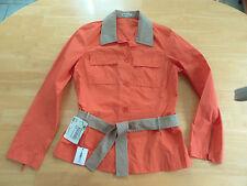 Luxus AMBIENTE Designer Blusen Jacke Gr. 38 orange