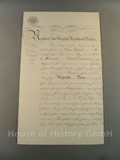 4197, Bestallungsurkunde, Patent für Portepee Fähnrich zum Second Lieutnant 1892