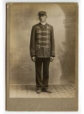 FIREMAN FULLER HOSE NO. 1 IN UNIFORM BY FRENCH, NORTH EAST, PA, CABINET CARD