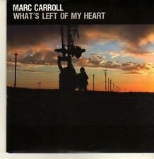 (CP202) Marc Carroll, What's Left of My Heart - 2009 DJ CD