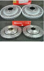 BMW 330i 330D 330CI BRAKE DISC FRONT REAR BREMBO DIMPLED GROOVED