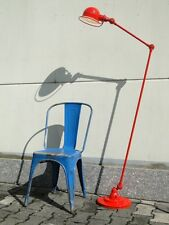 JIELDE FRENCH INDUSTRIAL 2 ARMS TABLE FLOOR READING LAMP RED