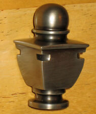 Waterford LAMP FINIAL - brushed nickel - for LAMP CHANDELIER - new