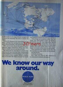 PAN AM Air Cargo Carrier 1969 Advert PRINT : Original Magazine Ad to Frame