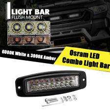 1X 7.3'' 54W 5400LM LED Work Driving Light Bar Osram LED Combo Lamp Dual Color