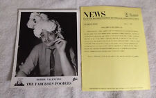 Bobby Valentino - Fabulous Poodles - Press Release with Publicity Photo - 1979