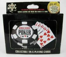 World Series Of Poker Collectible Tin & 2 Decks Of Playing Cards NIB