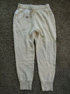 NWT Fabletics Women's Daria Jogger Pants Slim Fit Drawstring Oat Ivory Size M