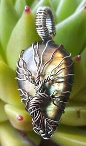 Sterling Silver Labradorite Tree of Life Pendant