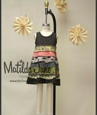 Matilda Jane Field Trip Jumping Wendy Tiered London Taxi Dress size 10 EUC
