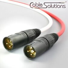 Canare Balanced XLR Audio Interconnect Cables 2.5m, White/Red Stereo Pair