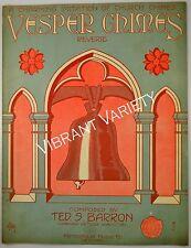 Vesper Chimes  Art By De Takacs 1913 Sheet music Music By Ted Barron