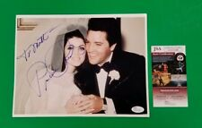 "Rare - Priscilla Presley With Elvis Signed 8""X10"" Photo Certified With Jsa Coa"
