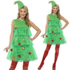 Ladies Christmas Tree Fancy Dress Costume Xmas Outfit Sizes 8-18