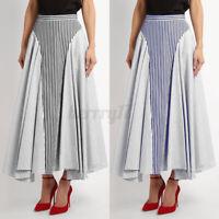 UK Women Ladies Gypsy Long Jersey Elasticated Maxi Dress Ladies Swing Skirt 8-26