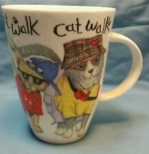 "ELEGANCE FINE BONE CHINA ""CAT WALK"" COFFEE CUP MADE IN ENGLAND"