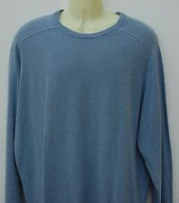 NEW MARKS & SPENCER EXTRA FINE LAMBSWOOL JUMPER SWEATER - CREW - BLUE SIZE XX-L