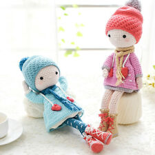 Crochet  Doll Handmade Amigurumi Stuffed Toy Knit Snowflake Girl Two Piece