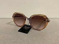 Versace 19V69 Matida Women's Sunglasses Light Brown Frame Brown Lens New