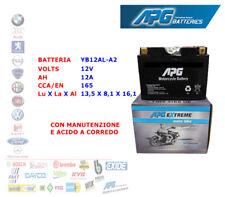 BATTERIA MOTO SCOOTER QUAD 12V 12A CCA-EN 165 YB12AL-A2 APG EXTREME XETB12ALA2
