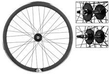 Origin8 Matte Blk 32h Track Bike Fixed Gear Aero Wheelset 42mm