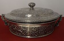 c1800's Derby Silver Plate Co. DUTCH Hand Chased Covered Casserole Holder
