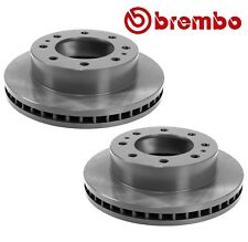 NEW For Chevrolet GMC Pair Set of 2 Front Disc Brake Rotors Vented 325 mm Brembo