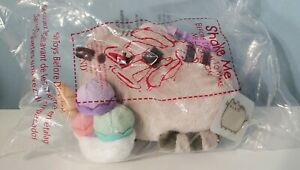Gund Sundae Pusheen Cat Plush Backpack Clip Key Chain NWT Zipper Pull