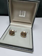 Vintage Dunhill, Steel brushed Cufflinks - Box