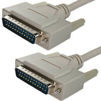 2 Metre 25-pin Male-Male Parallel Printer Cable DB25 25 Pin Lead Serial RS232